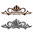 Black grunge ornate vector image vector image