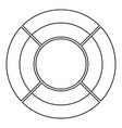 circle graph icon thin line vector image