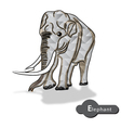 Elephant Abstract eps10 vector image
