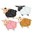 Four spotted cartoon sheep animals vector image