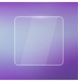 Glowing glossy glass panel with a blurred vector image