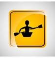 kayaking person sign sport extreme design vector image