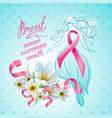 october breast cancer awareness month vector image