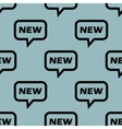 Pale blue NEW message pattern vector image