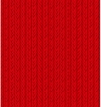 Red Sweater Texture Background vector image