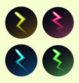 set of lightning icons in different colors vector image