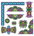 set of paisley floral design elements for page vector image