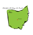 State of Ohio vector image