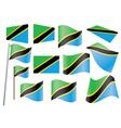 flag of Tanzania vector image