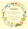 gardening template vector image