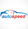 car automotive speed logo vector image