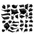 Set of abstract speech balloon vector image