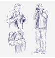 Photographer set - hand drawn llustration vector image vector image