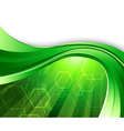 bright green technology vector image