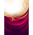 pink fabric curtain background vector image vector image