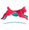 lynx jump volume logo for a sport team vector image