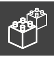 Blocks I vector image