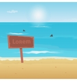 Summer beach and sharks  background vector image