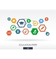 Education network Hexagon abstract background vector image