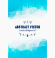 abstract winter background christmas vector image
