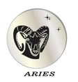 black silhouette of aries are on pearl background vector image