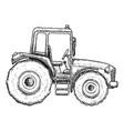 farming tractor sketch vector image