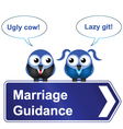MARRIAGE GUIDANCE vector image