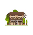 rural building countryside construction vector image