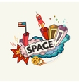 Space abstract vector image