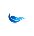 water abstract wave blue logo vector image