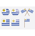 badges with flag of Uruguay vector image vector image