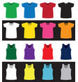 t-shirts and shirts different colors without vector image