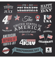 Independence Day Design Elements Set vector image vector image