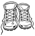 Hiking boots vector image