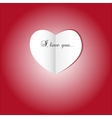 Paper heart St valentines day vector image