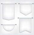 Flag white banner different shapes vector image vector image