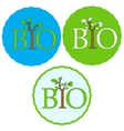 Set of bio icons vector image