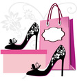 fashion shoes shopping vector image vector image