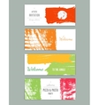 Modern cards design template with grungy rough vector image