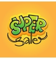 sale in graffiti style Doodle vector image
