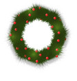a festive wreath of christmas vector image