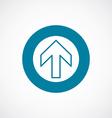 arrow icon bold blue circle border vector image