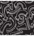 Chalkboard design elements Arrows Seamless pattern vector image