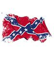 Confederate Rebel flag Grunge vector image