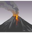 Crater mountain volcano hot natural eruption vector image