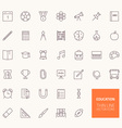 Education Outline Icons for web and mobile apps vector image