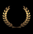 gold award wreaths laurel on black background vector image