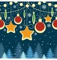 horizontal Christmas seamless retro pattern vector image