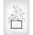 Realistic detalized flat laptop vector image