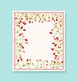 Retro beautiful flower design for wedding vector image